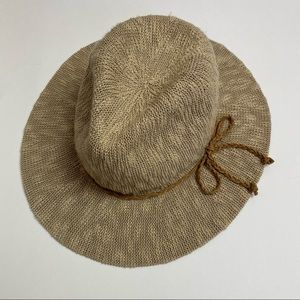 Tan Beige Soft Fedora Brim Hat